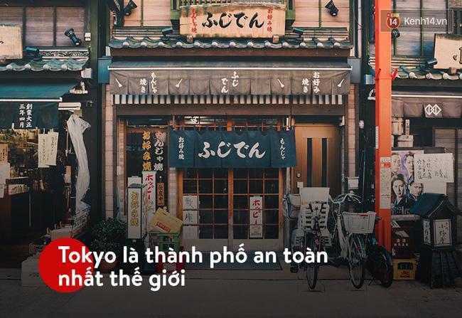 Thành phố Tokyo có độ an toàn với con người cực cao. Nguồn ảnh: Internet.