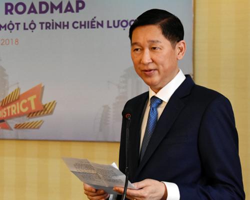 Ông Trần Vĩnh Tuyến tại buổi làm việc hôm nay. Ảnh: Tuyết Nguyễn.