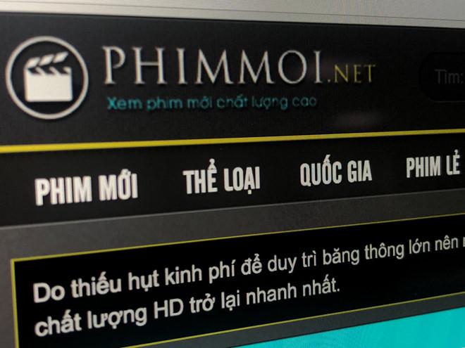 Phimmoi.net đang là kênh phim lậu lớn nhất tại Việt Nam với hơn 6 triệu lượt truy cập mỗi ngày.