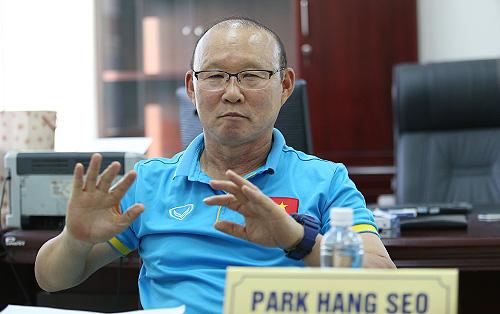 HLV Park Hang-seo cho biết đang hợp tác rất tốt cùng VFF, chuẩn bị cho ASIAD và AFF Cup. Ảnh: Lâm Thỏa.