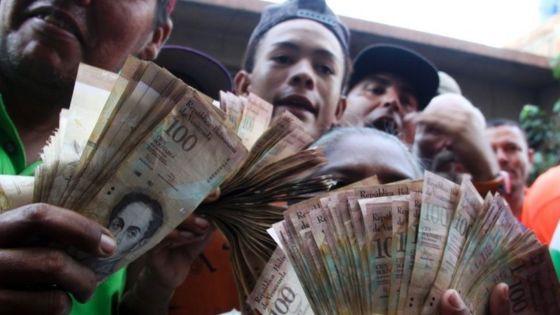 Đồng tiền Bollivar của Venezuela (Ảnh: AFP)