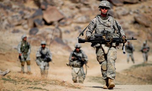 Lính Mỹ trong một cuộc tuần tra năm 2017. Ảnh: Lầu Năm Góc.