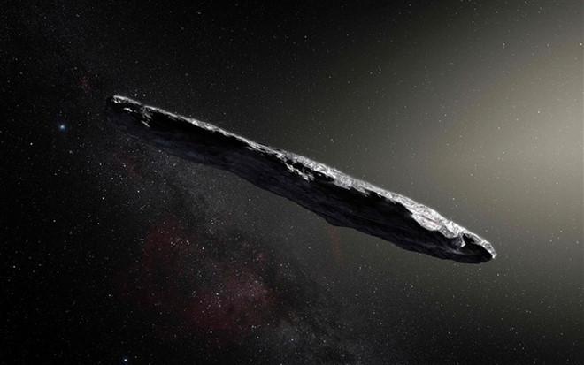 Oumuamua có hình dạng giống như một điếu xì gà. Ảnh: NBC.